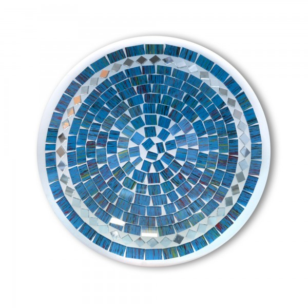 Mosaikteller 'Blue Sky' S, blau, Ø 20 cm, H 5 cm