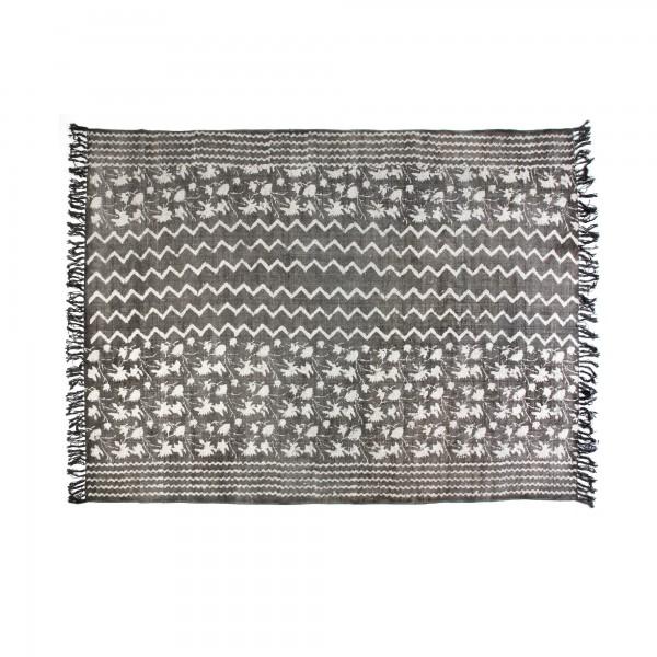 Teppich 'Print', grau, weiß, T 140 cm, B 200 cm