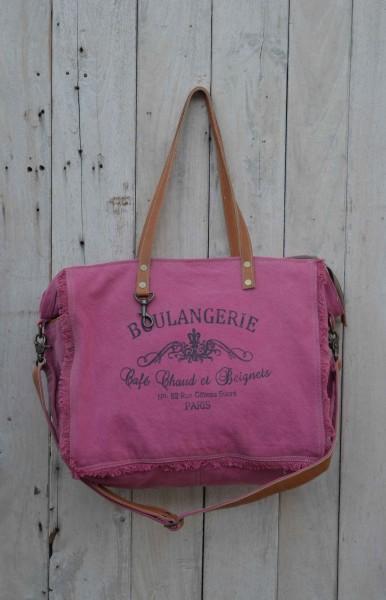 "Umhängetasche ""Boulangerie"", pink, B 42 cm, H 31 cm"