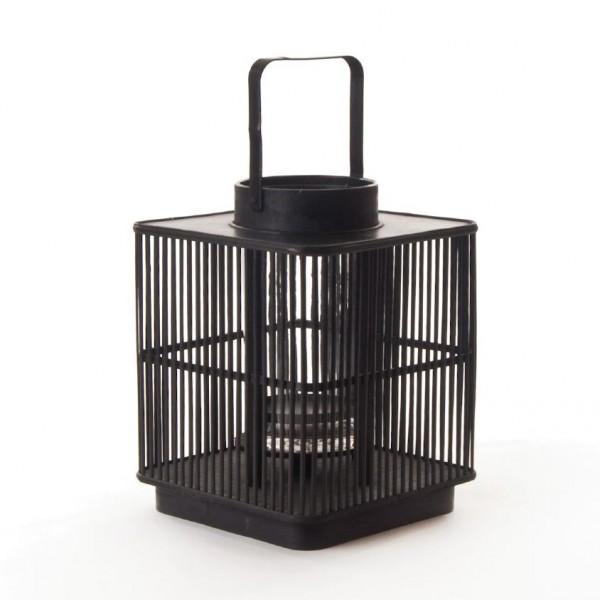 "Bambuslaterne ""Tokyo"", schwarz, L 31 cm, B 31 cm, H 40 cm"