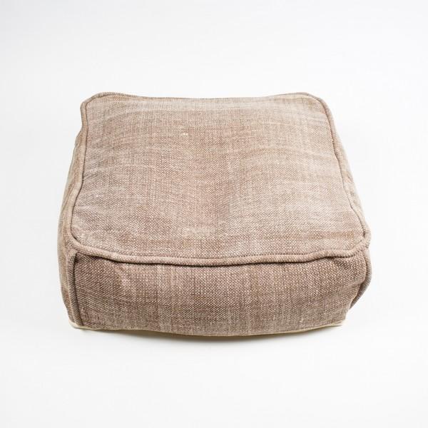 Sitzkissen, mit Füllung, braun, L 60 cm, B 60 cm, H 20 cm