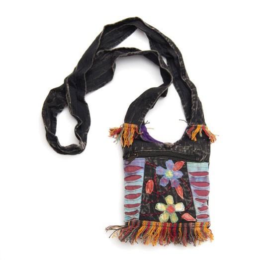 """Umhängetasche """"Flower"""" aus 100% Baumwolle, B 20 cm, H 24 cm"""