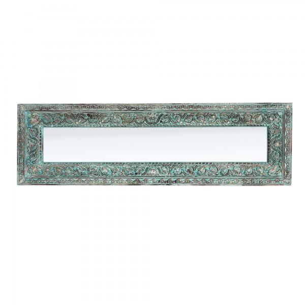 Spiegel mit Rahmen Schnitzereien, türkis, T 5 cm, B 52 cm, H 170 cm