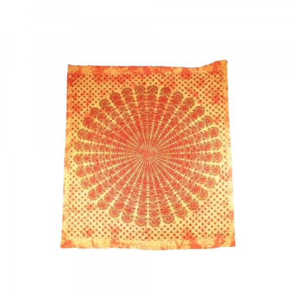 Tagesdecke, aus 100% Baumwolle, orange, L 250 cm, B 220 cm
