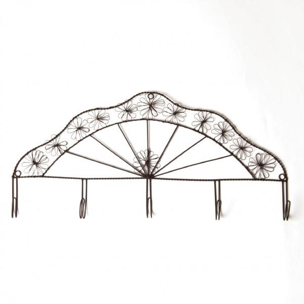 Wandhakenleiste, antik-braun, B 50 cm