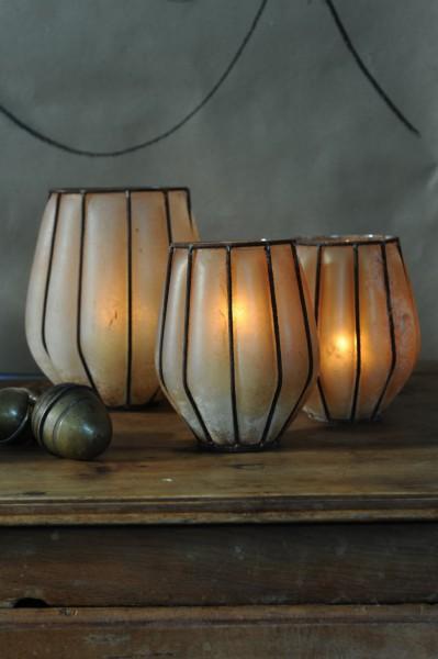 Teelichthalter, Ø 10 cm, H 16 cm