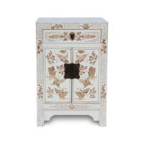 Kommode 'Schmetterling', 1 Schublade, 2 Türen, weiß, T 32 cm, B 40 cm, H 60 cm