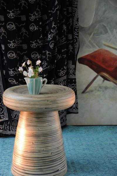 Bambushocker, natur, Ø 40 cm, H 60 cm