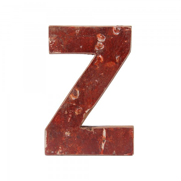 Holzbuchstabe 'Z', mehrfarbig, T 2,5 cm, B 13 cm, H 19 cm