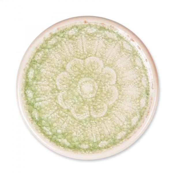 Untersetzer 'Mandala', hellgrün, Ø 11 cm, H 1 cm