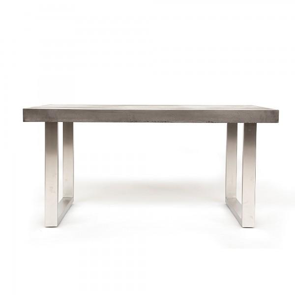 Tisch 'Union Square', edelstahl, beton-grau, T 100 cm, B 200 cm, H 76 cm