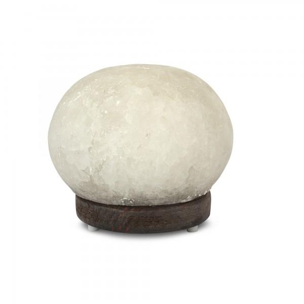 Salzlampe 'Düz Cür', weiß, T 15 cm, B 15 cm, H 15 cm