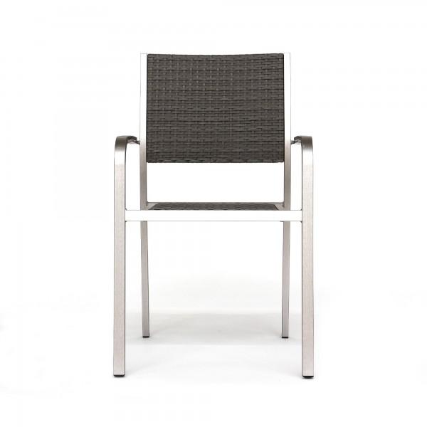Alu-Stuhl 'Danford', aluminium, grau, T 60 cm, B 54 cm, H 88,5 cm