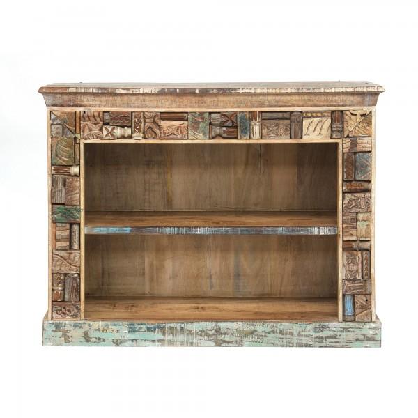 Bücherschrank 'Jolipur', hellbraun, T 40 cm, B 120 cm, H 90 cm
