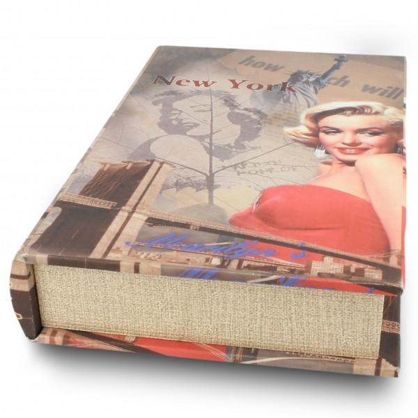 "Buchhülle ""Marilyn New York"", L 5 cm, B 17 cm, H 26 cm"
