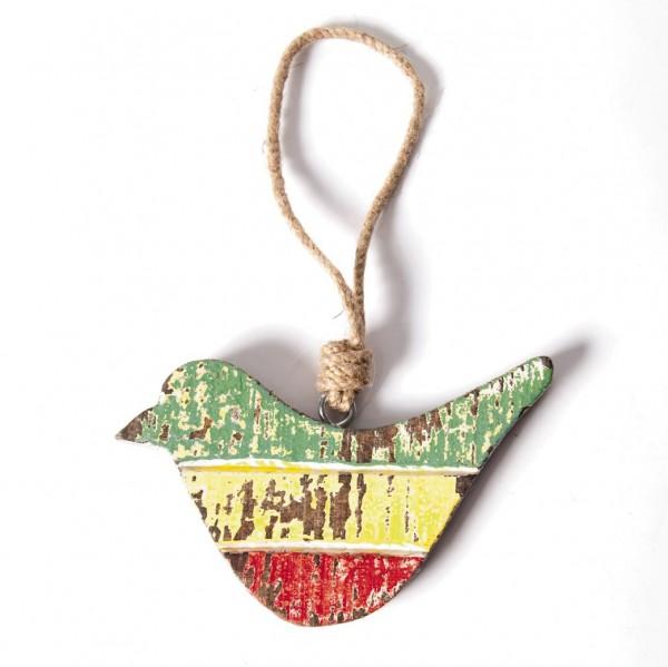 """Holz-Aufhänger """"Vogel"""", multicolor, B 15 cm, H 9 cm"""