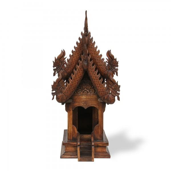 Geisterhaus thailändisch M, dunkelbraun, T 50 cm, B 24 cm, H 55 cm