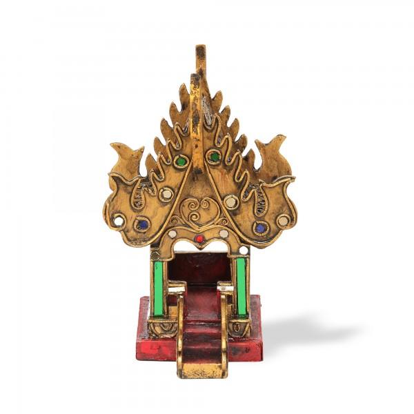 Geisterhaus thailändisch, gold, T 16 cm, B 13,5 cm, H 20 cm