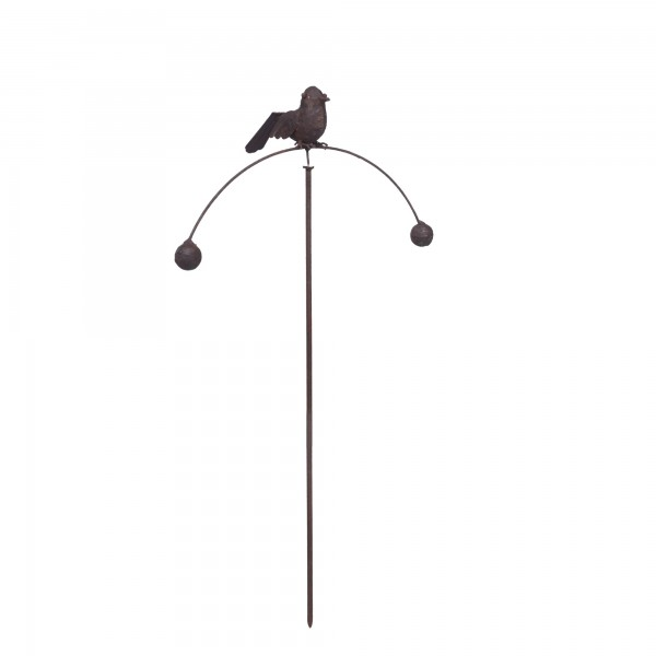 Vogel 'Viktoria', rostbraun, T 15 cm, B 35 cm, H 110 cm