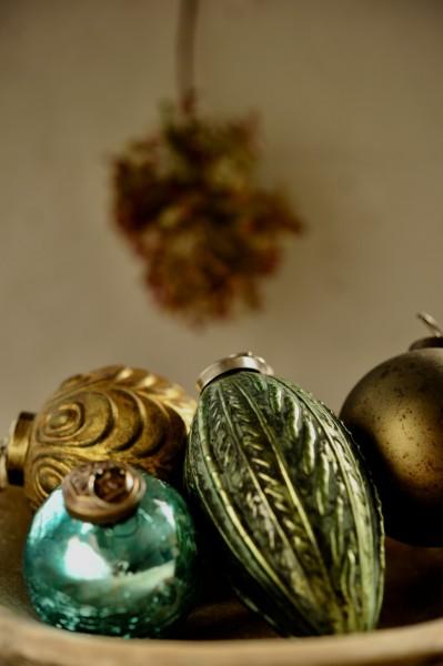 Anhänger Zapfen, grün, T 8 cm, B 8 cm, H 12 cm