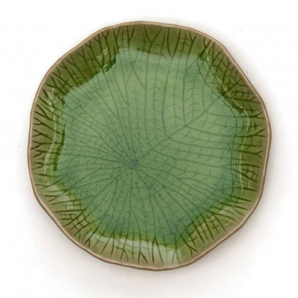 "Teller ""Lotusblatt"", grün, Ø 19 cm"