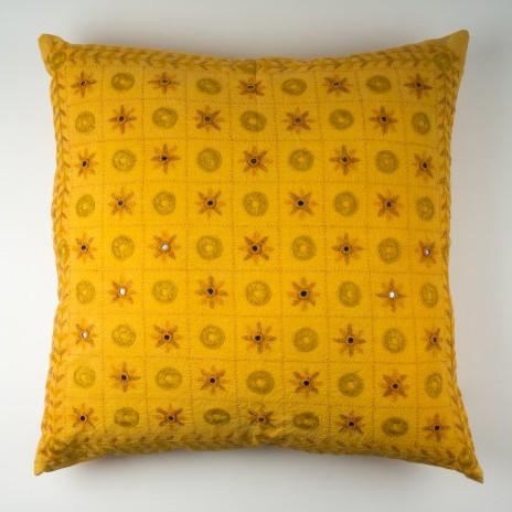 Kissenhülle, gelb, L 60 cm, B 60 cm