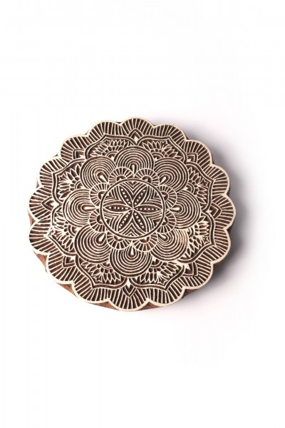 Textilstempel 'Seerose', braun, T 14 cm, B 1,5 cm