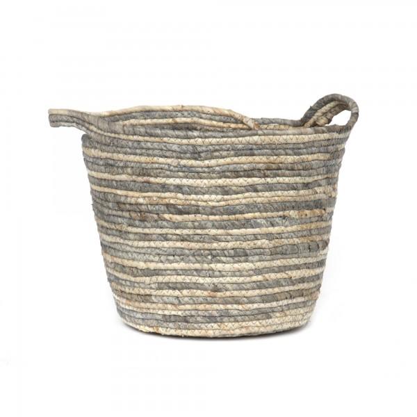 Korb 'Chio' M, natur, grau, Ø 28 cm, H 22 cm