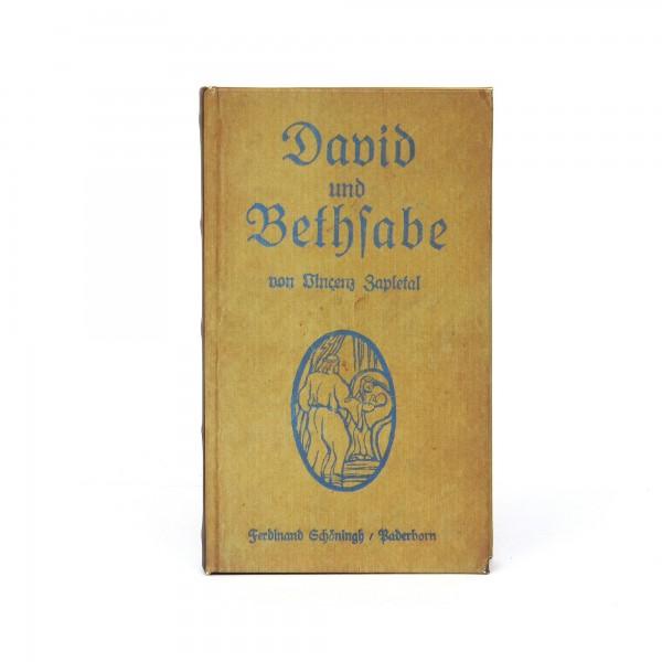 Buchhülle 'David und Bethfabe', T 3 cm, B 13 cm, H 21 cm