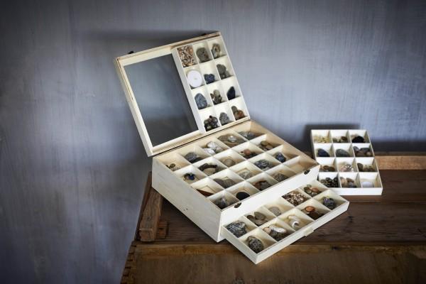 Sortierkasten 'Luosi' mit 1 Schublade und 48 Sortierfächern, natur, L 30 cm, B 40 cm, H 13 cm
