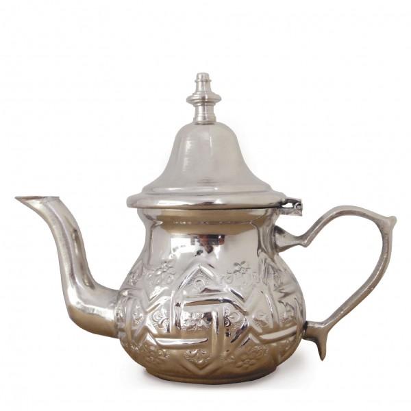 Kleine marokkanische Teekanne, silber, H 12 cm, Inhalt: ca. 200 ml