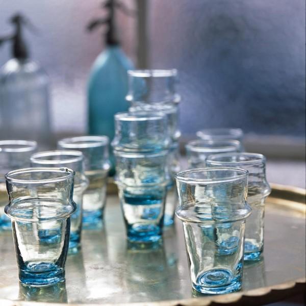 Teeglas, transparent, H 9,5 cm, Ø 5,5 cm