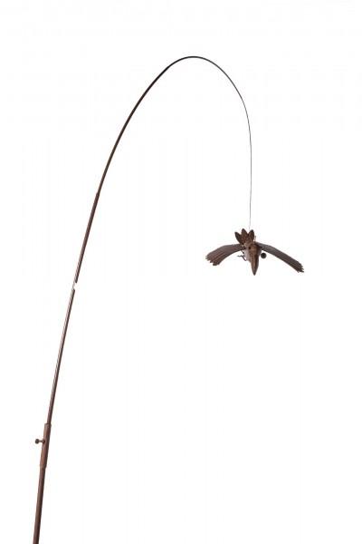 Krähe 'Ewald', L 30 cm, B 33 cm, H 160 cm