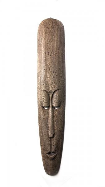 afrikanische Maske, braun, T 3 cm, B 18 cm, H 100 cm