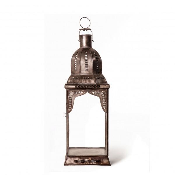 "Marokkanische Laterne ""Mamonia"", klar, L 20 cm, B 20 cm, H 60 cm"