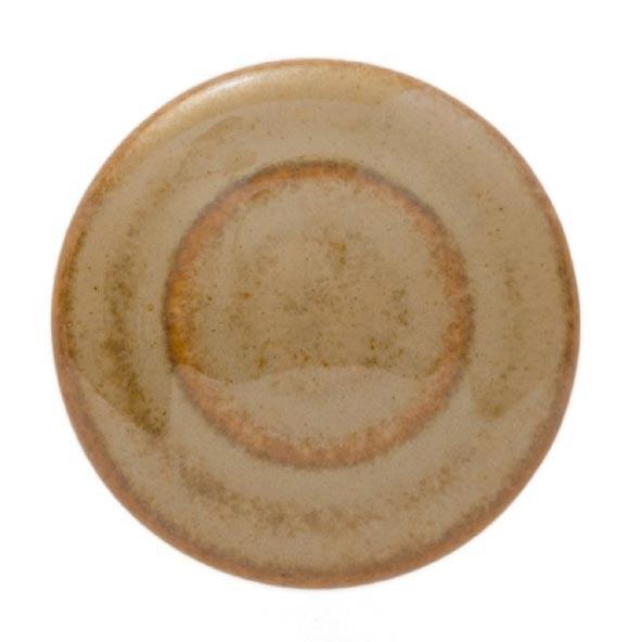 Knopf Ringe rund, weiß/braun, Ø 4 cm