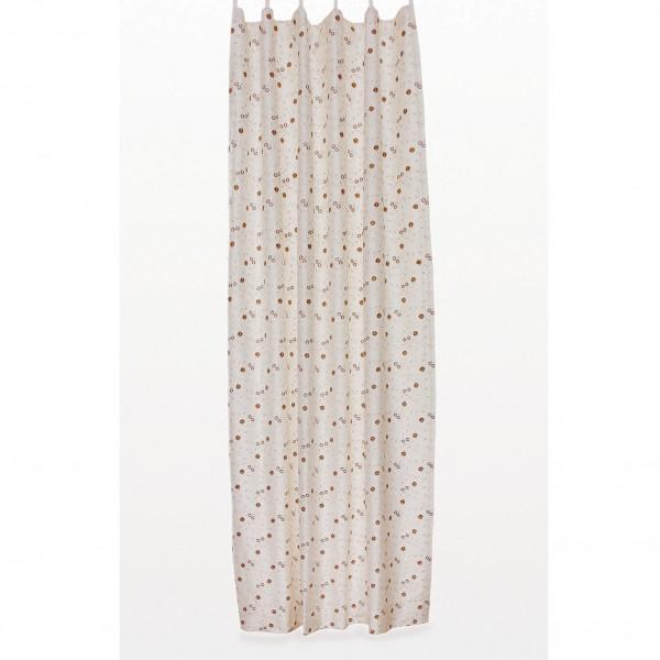 Seidenvorhang mit Band, beige, L 240 cm, B 130 cm
