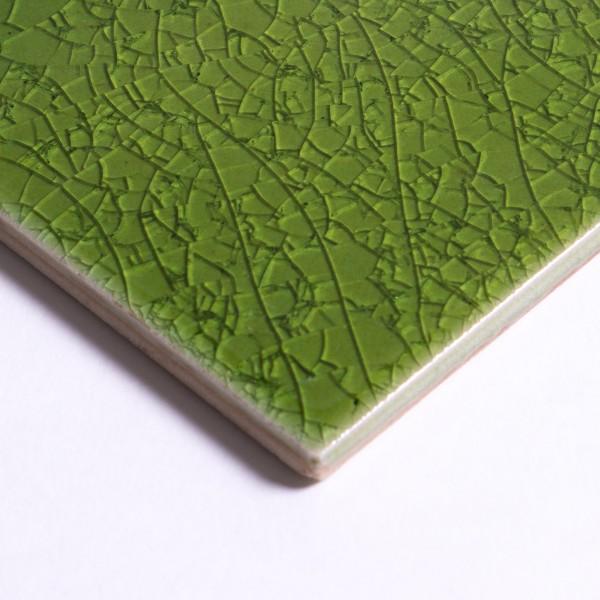 Fliese 'Craquele', jadegrün, L 10 cm, B 10 cm
