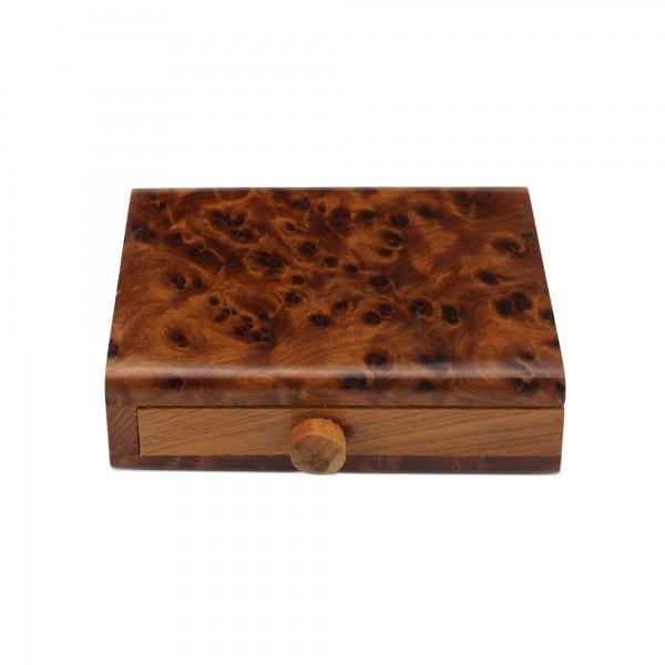 Thuja Schlangen-Box, T 2 cm, B 5 cm, H 7,5 cm