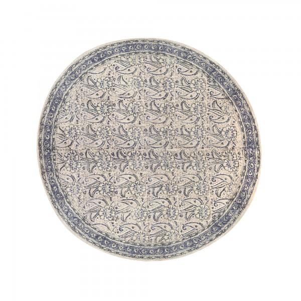 Teppich 'Orai', weiß, grau, T 110 cm, B 110 cm