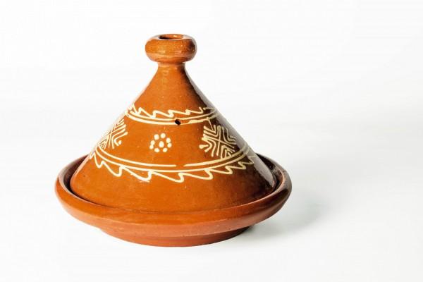 Tajine 'Meknes', orange, natur, Ø 25 cm