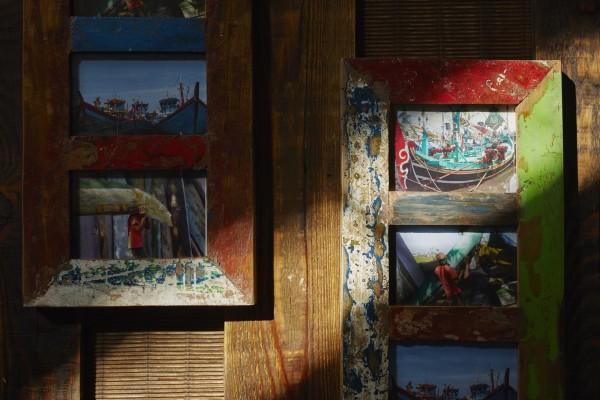 Fotorahmen aus Bootsholz, multicolor, T 3 cm, B 25 cm, H 60 cm