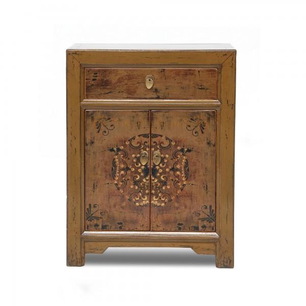 Schrank, 1 Schublade, 2 Türen, antikbraun, T 40 cm, B 65 cm, H 85 cm