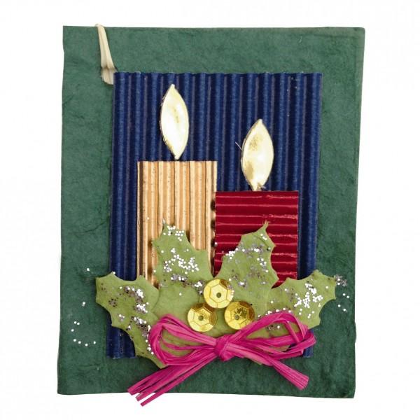 Geschenkkarte, grün/blau, H 7,5 cm, B 6 cm