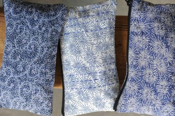 Mehrzwecketui 'Paisley', blau, B 21 cm, H 11 cm