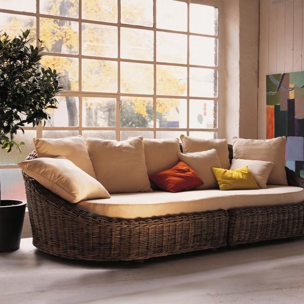 Sofa 'Ambon', natur, L 130 cm, B 270 cm, H 78 cm