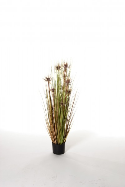 "Kunstpflanze ""Papyrusgras"", lila, H 110 cm"