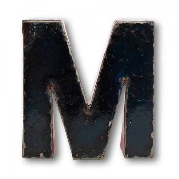 Metallbuchstabe 'M', multicolor, T 18 cm, B 21 cm, H 4 cm