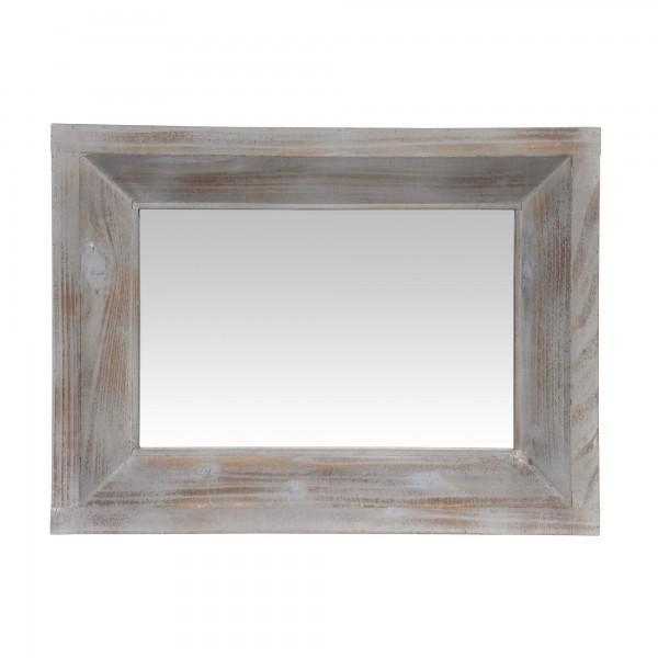 Spiegel Holzrahmen, natur, weiß, T 5 cm, B 55 cm, H 85 cm