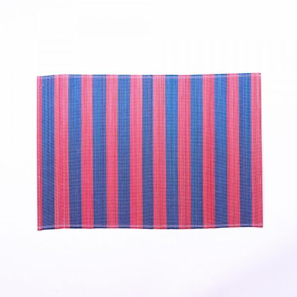 Tischset aus Bambus, rot, blau, L 33 cm, B 48 cm